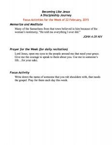discipleship focus handout 2:22