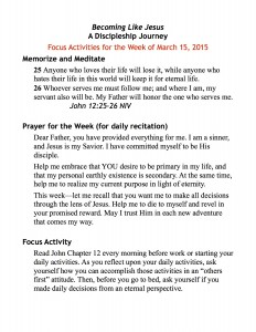 discipleship focus handout 3:15