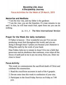 discipleship focus handout 3:29