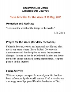 discipleship focus handout 5:10