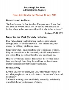 discipleship focus handout 5:17